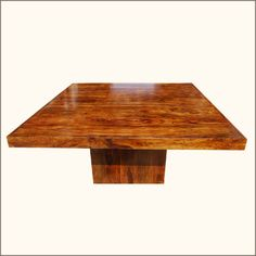 Contemporary Solid Indian Rosewood Square Pedestal Table