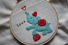 Cute embroidery with felt