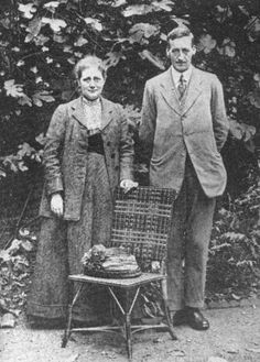 Beatrix Potter and solicitor William Heelis on their wedding day (14 Oct. 1913)