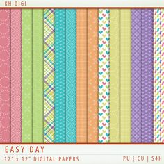 Easy Day Digital Paper Freebie