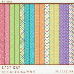 Easy Day Digital Paper Freebie
