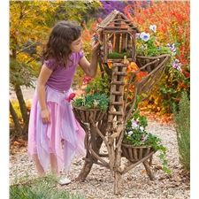 3-Tiered Woodland Plant Stand Made in Latin America cabin, woodland plant, fairi hous, fairi garden, yard, plant stands, tree houses, fairy houses, latin america