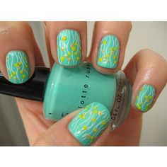 Turquoise pattern for nails
