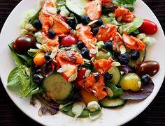 Grilled Honey Mustard Copper River Salmon Salad Recipe