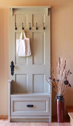 From a repurposed door ... Love it, want one of these!!