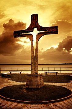His cross