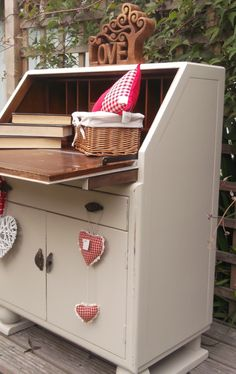Beautiful little Lebus painted Shabby chic Bureau.
