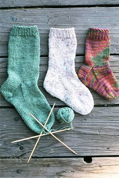 Knitting Pure & Simple - Easy Children???s Sock