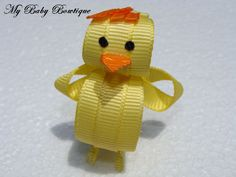 Toddler Girls Hair Bow Clip - Chicken Little Inspired Hair Bow