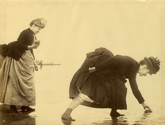 Collecting Shells, Manhattan Beach, Coney Island, 1885.