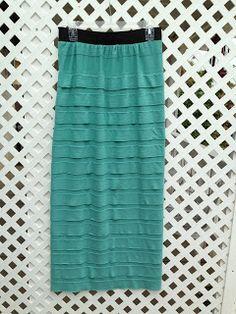 Klassy Kreations: Mint Green Ruffled Skirt