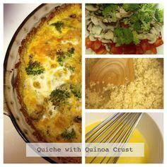 Healthy Recipe - Easy Quiche with Quinoa Crust