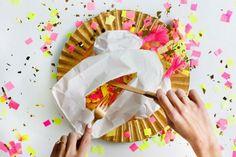 DIY pollo relleno de confeti