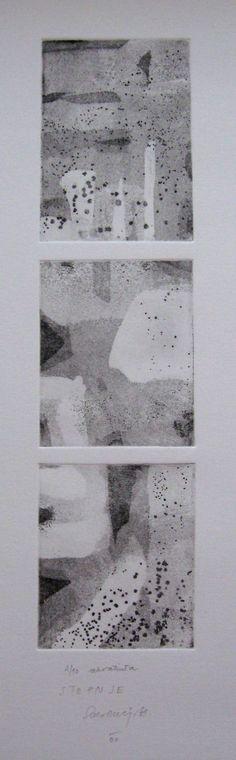 printmaking hand pulled print Degrees by SabinaSH