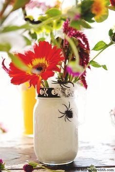 How to: Painted Mason Jar Halloween Flowers   FamilyFreshCooking.com