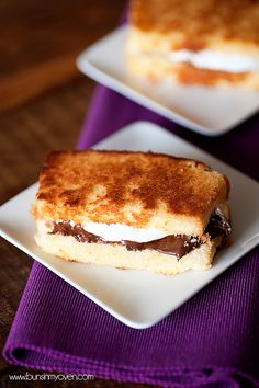 Grilled Pound Cake S'mores Sandwiches. This took my breath away just looking at it..