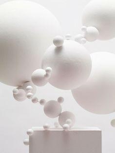 White art installation