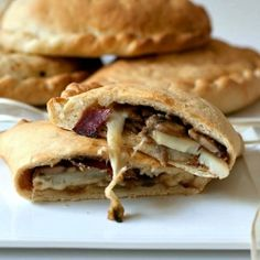 Calzoni with mushrooms, Asiago cheese, speck and potatoes.