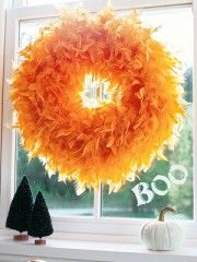 Love the feather wreath
