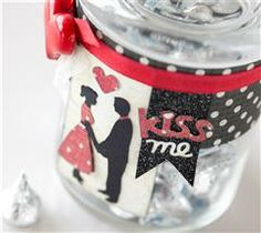 Create this fun kiss jar on any occasion for your lover!