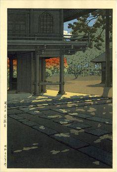 Kawase Hasui: Hienin Temple,1947