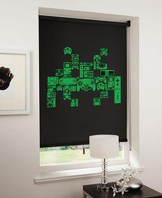 Space Invader Gamer Blinds