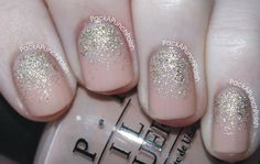 A simple, matte, nude, glitter gradient is now on my blog. Click through or click here.