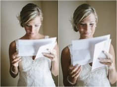 Bride reading over her vows | Tracy Enoch Photography