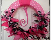 Minnie Mouse Baby Girl Ribbon Wreath for Hospital Door Hanger, baby shower, birthday party, bridal shower