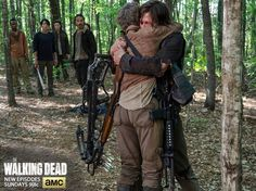 Best moment of the episode.DAryl running into Carols arms <3