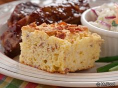 Bacon Corn Bread - What's the one thing that makes this corn bread recipe stand out from all the others? It's gotta be all that yummy bacon!