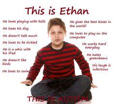 This is a Person autism spectrum, autism educ, autism awar, spectrum awar, awar month, autism hope