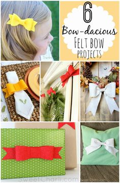 DIY Felt Bows - for multiple uses!