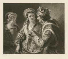 Georg Goldberg. Henry V, Act II, scene 2. Engraving, 18th century. Folger Shakespeare Library.