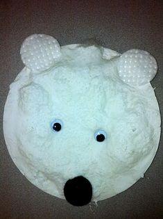 3D polar bear.  I love the idea and the tie  in to the Eric Carle book Polar Bear, Polar Bear, What Do You Hear?