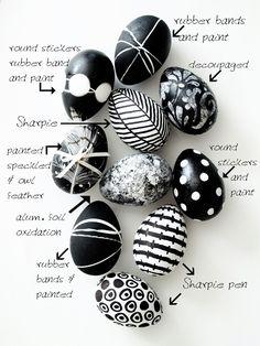 Black and white Easter egg idea