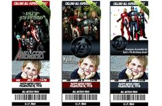 The Avengers Ticket Birthday Invitations by ithinkparty on Etsy, $13.95