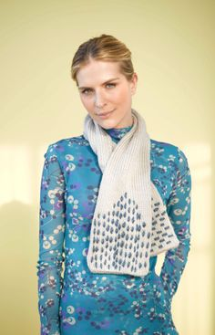 Add a stitch of interest! Simple embroidery turns this easy knit scarf made with Vanna's Choice and Hometown USA into a fun and versatile accessory.