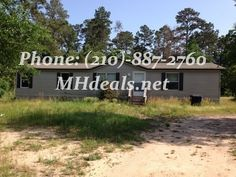 $56,900 1,344 square feet (24 X 56) Double Wide manufactured home. 3 bedrooms and 2 bathrooms. Within the kitchen there is a long counter with a rest head with a dark wood color design. With a open floor plan the home has a large amount of tile laminate throughout the home.  (210)-887-2760  LIC 36155 http://mhdeals.net/gallery/used-double-wide-mobile-homes/Hockley-TX-2012FWD32