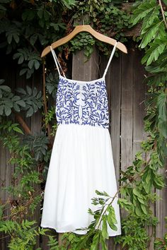 Cute white and blue beaded dress