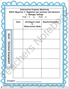 GOLD/ECSE Intervention Forms from Mrs Bs Room on TeachersNotebook.com -  (140 pages)  - ECSE intervention and progress monitoring forms connected with GOLD objectives. Includes data collection, progress monitoring forms, and examples.