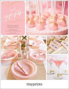 Pink Girly Graduation inspiration board on the Tiny Prints blog today. #graduation #invitations