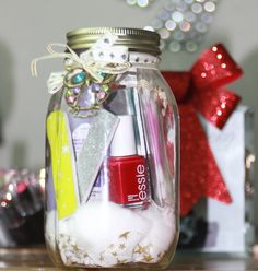 teacher gifts, christmas gift ideas, jar gifts, bridesmaid gifts, manicur, diy gifts, holiday gifts, mason jars, christmas gifts
