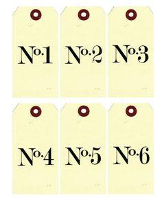 Free numbered printables
