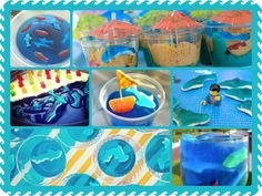 In honor of Shark Week, check out these adorable party ideas using gummi sharks!