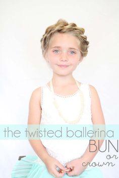 crown and bun hair tutorial for little girls