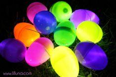 Glow in the dark egg hunt
