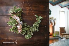 DIY swag wreath usin