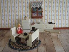 Vintage Miniature Dollhouse Furniture  1940s Donna by TheToyBox, $25.00