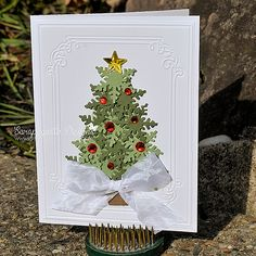 holiday, christma card, card idea, christma tree, snowflak punch, green snowflak, paper crafts, christmas trees